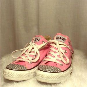 Pink rhinestone Converse